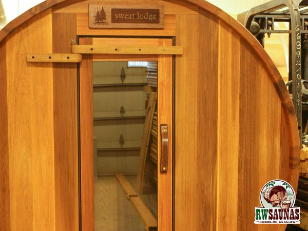 RW Saunas Barrel Sauna sweat lodge sign custom