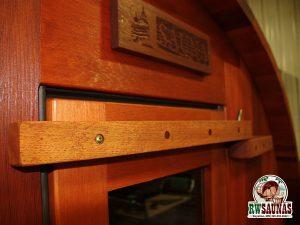 RW Saunas Barrel Sauna close up of wood