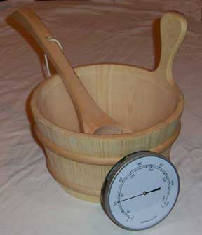 1 gallon bucket with plastic liner, 14 inch ladle and a 5 inch thermometer